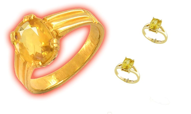 how to wear pukhrah yellow sapphire topaz